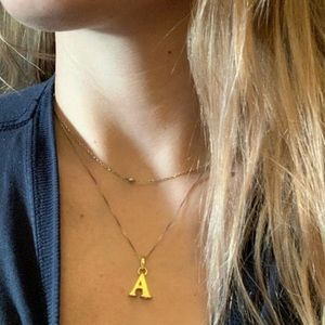 """Gold Letter """"A"""" charm or pendant"""